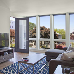 East Terrace Apartments: Floor-to-Ceiling Windows